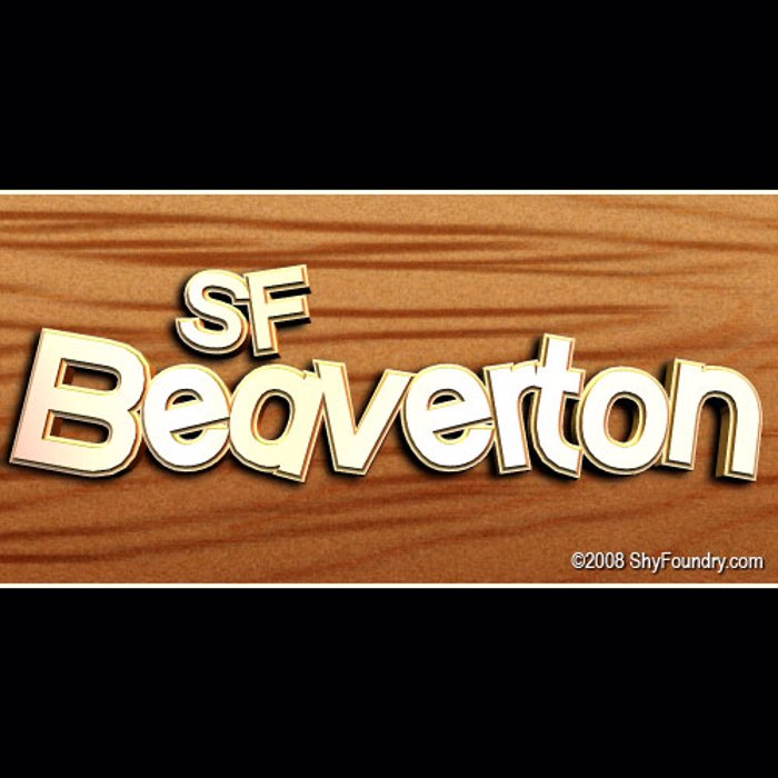 SF Beaverton Font poster