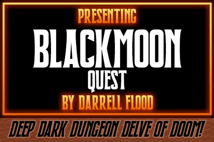 Blackmoon Quest Font poster