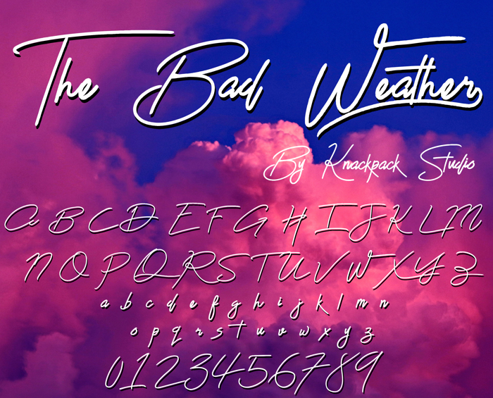 The Bad Weather Demo Font poster