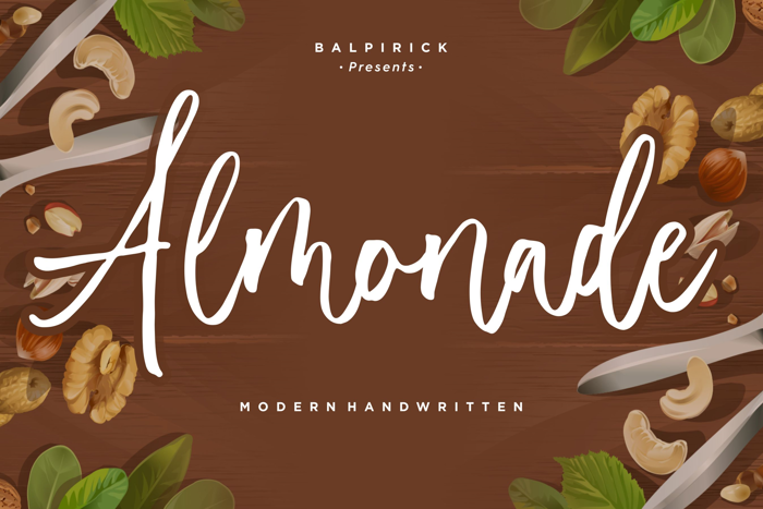 Almonade Font poster
