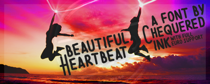 Beautiful Heartbeat Font poster