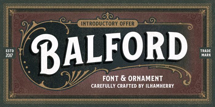 Balford Font poster