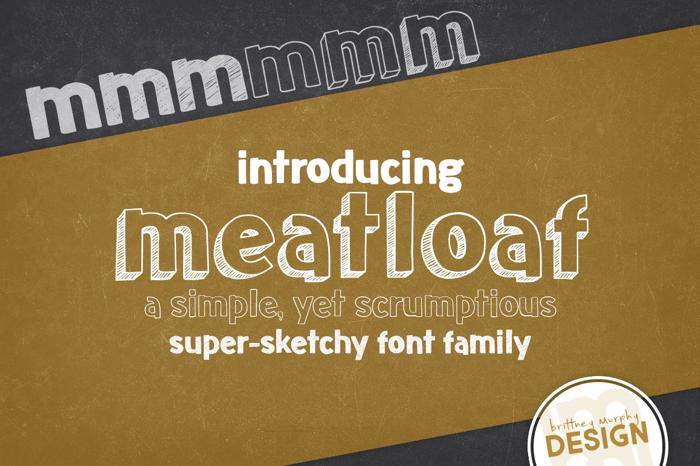 meatloaf Font poster