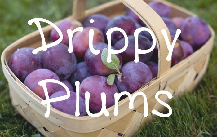 DrippyPlums Font poster