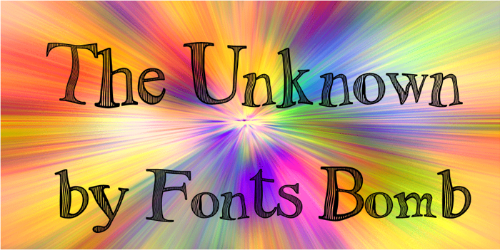 The Unknown Font poster