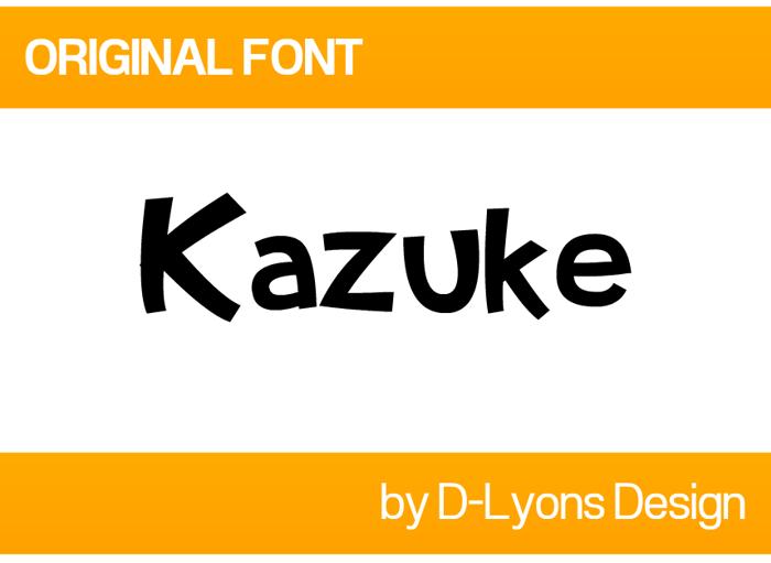 Kazuke Font poster