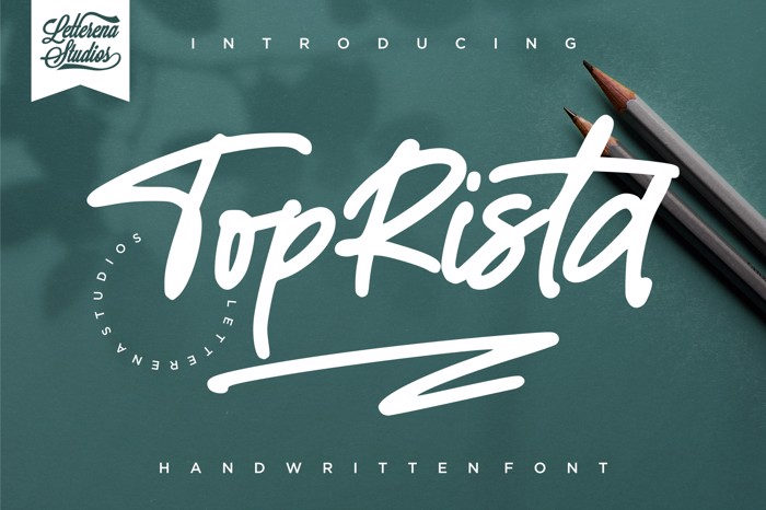TopRista Font poster