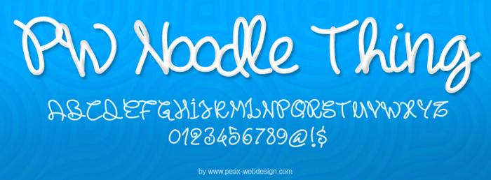 PWNoodleThing Font poster