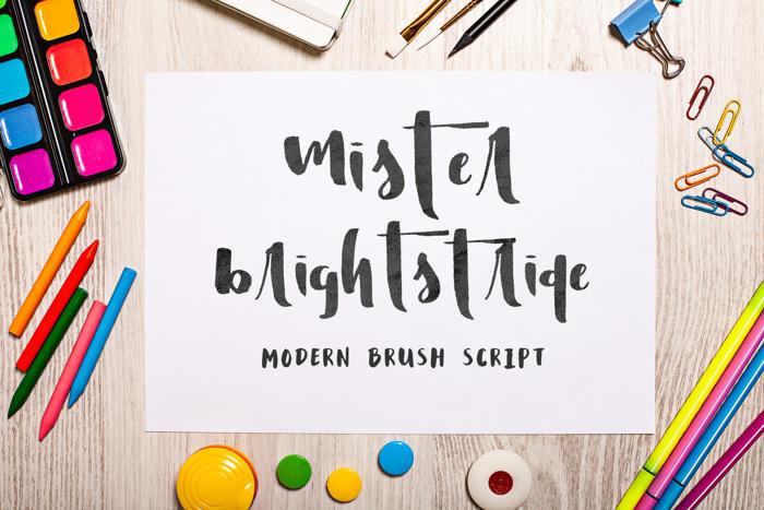 Mister Brightstride Font poster