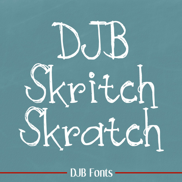 DJB Skritch Skratch Font poster