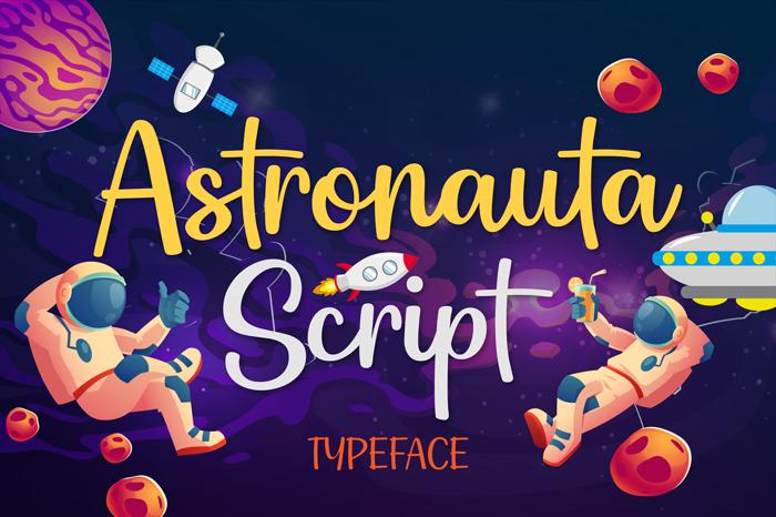 Astronauta Script Font poster