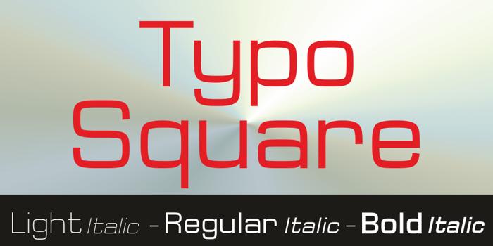 Typo Square Bold Demo Font poster