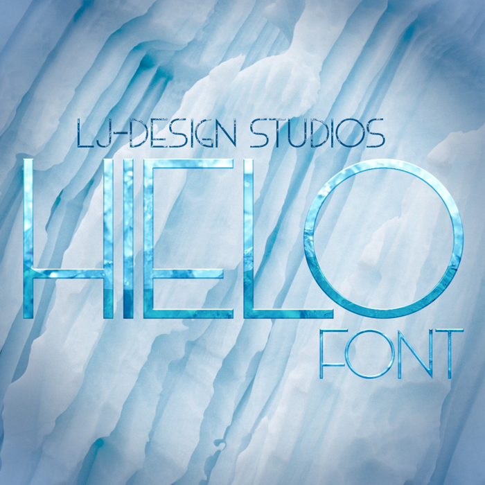 HIELO Font poster
