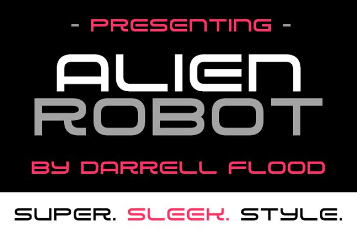Alien Robot Font poster