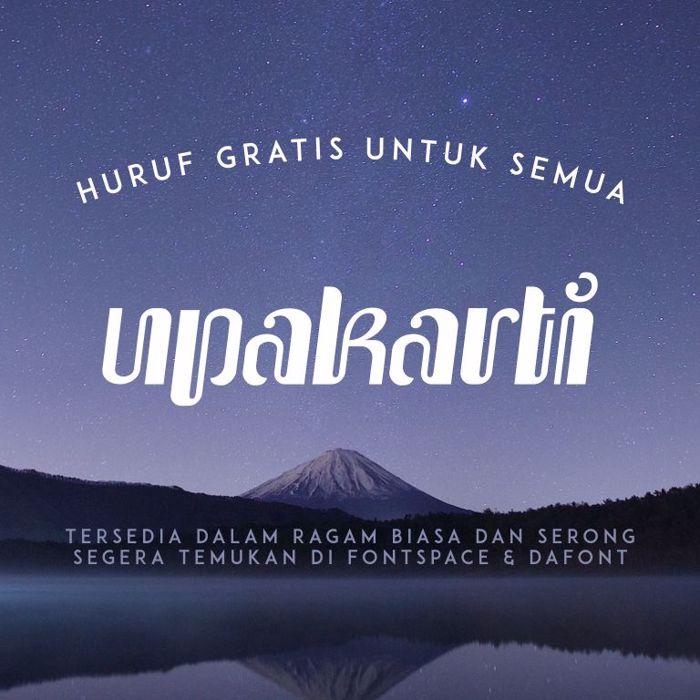 Upakarti Font poster