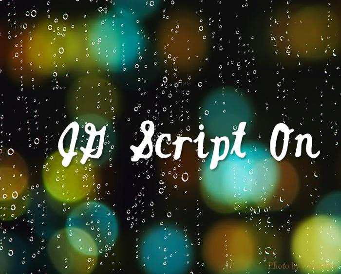 JGScriptOn Font poster