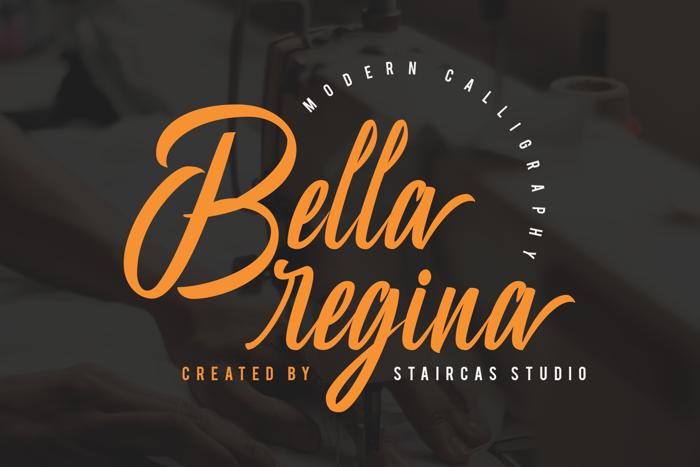 Bella Regina Font poster