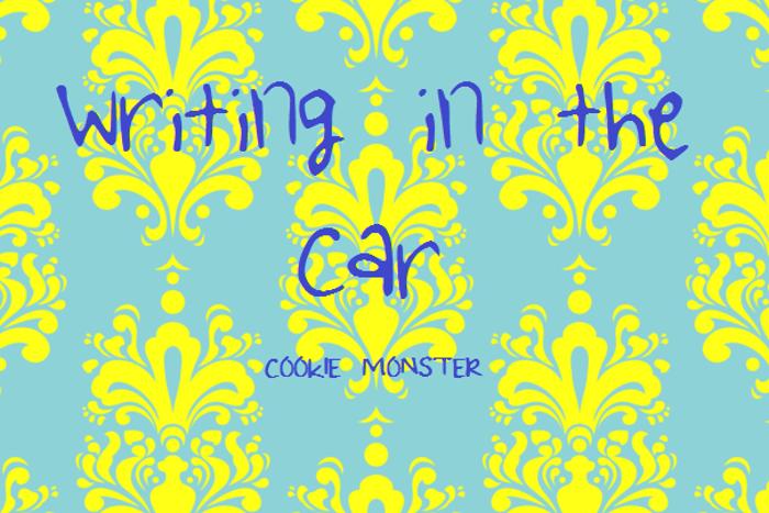 WritingintheCar Font poster