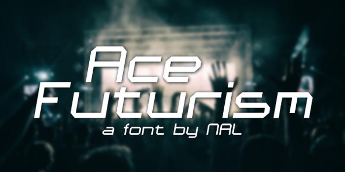 Ace Futurism Font poster