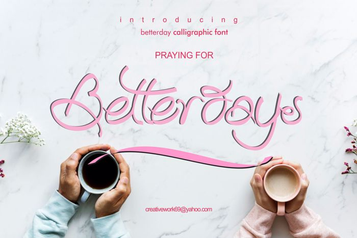 Betterday Demo Font poster
