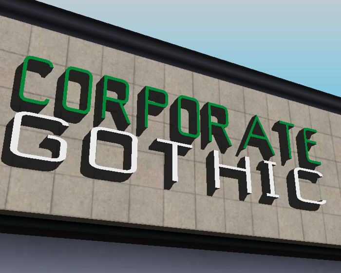 Corporate Gothic NBP Font poster