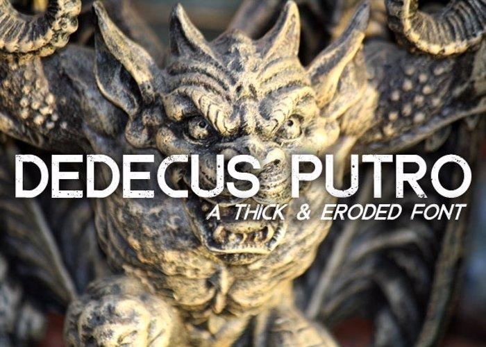 Dedecus Putro Font poster