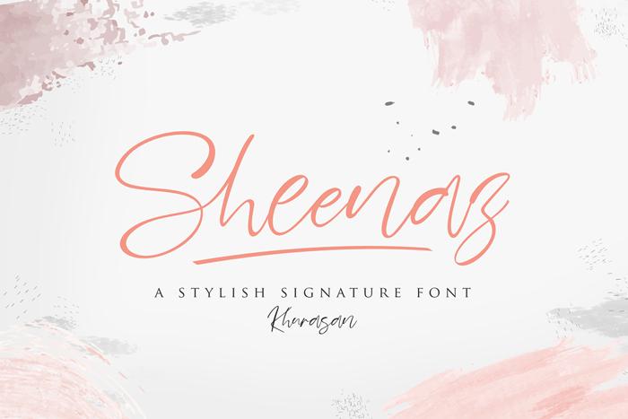 Sheenaz Font poster