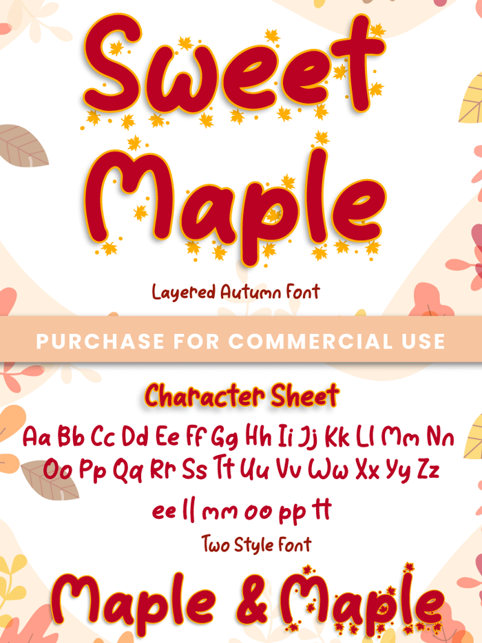 Sweet Maple Font poster