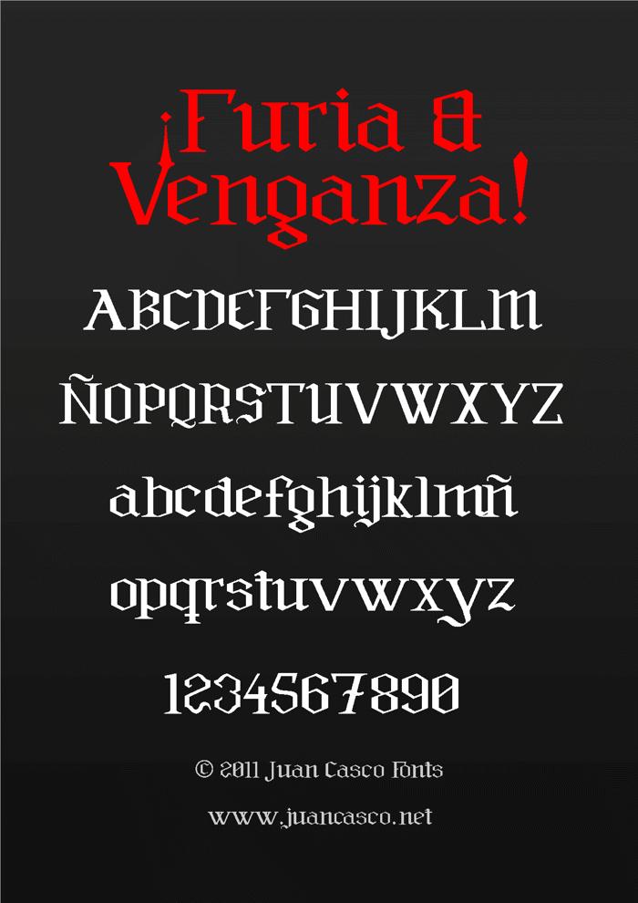 Furia & Venganza Font poster