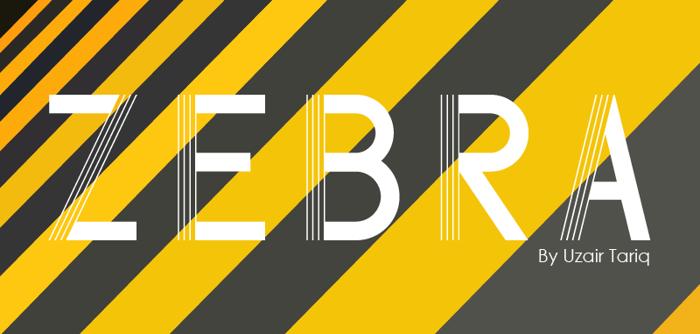Zebra Font poster