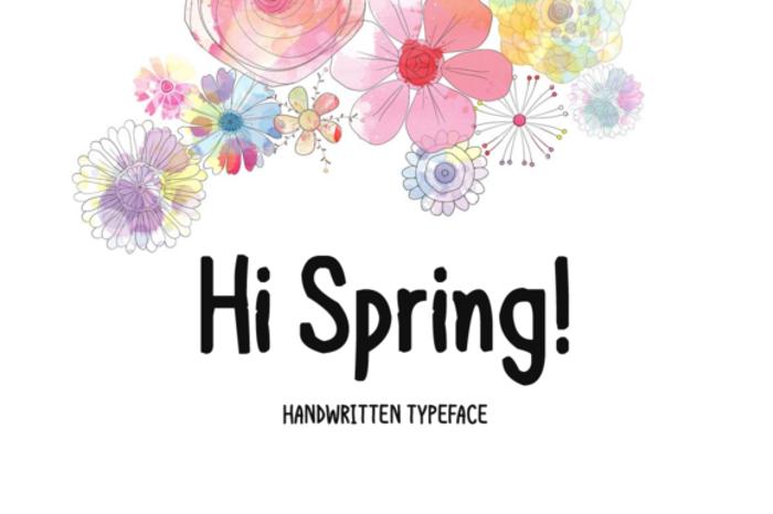 Hi Spring Font poster