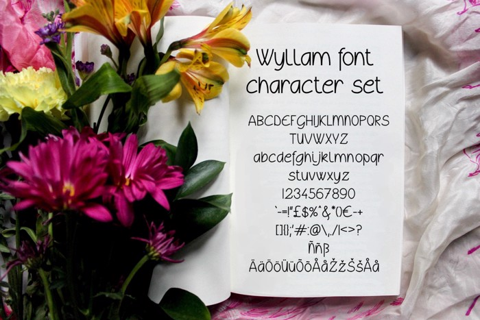 Wyllam Font poster