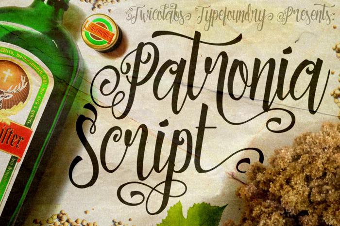 Patronia Script Font poster