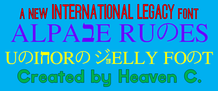 Alpabe Runes CHMC Font