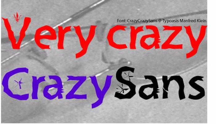 Crazy Crazy Sans Font poster