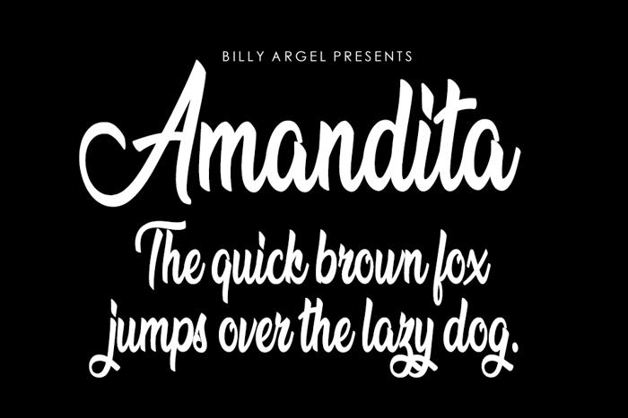 Amandita Font poster
