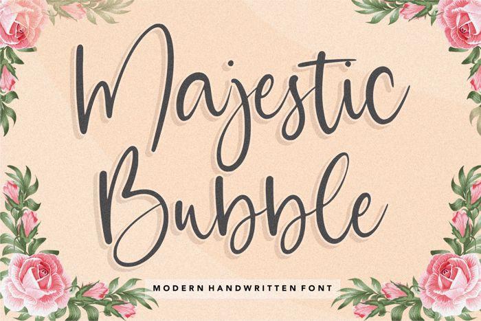 Majestic Bubble Font poster