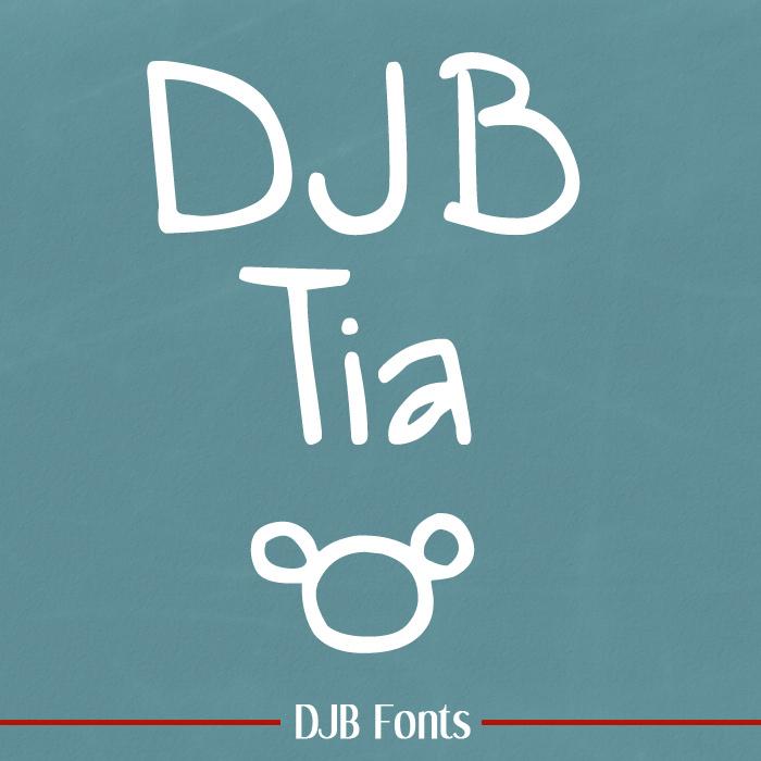 DJB Tia Font poster