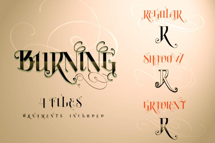 Vtks Burning Font poster