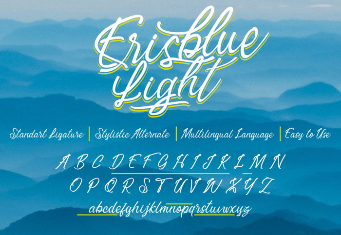 Erisblue Light Font poster