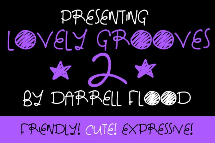 Lovely Grooves 2 Font poster