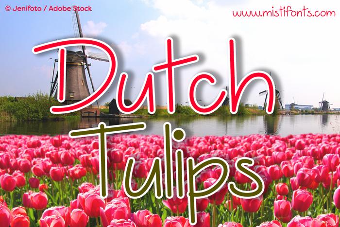 Dutch Tulips Font poster