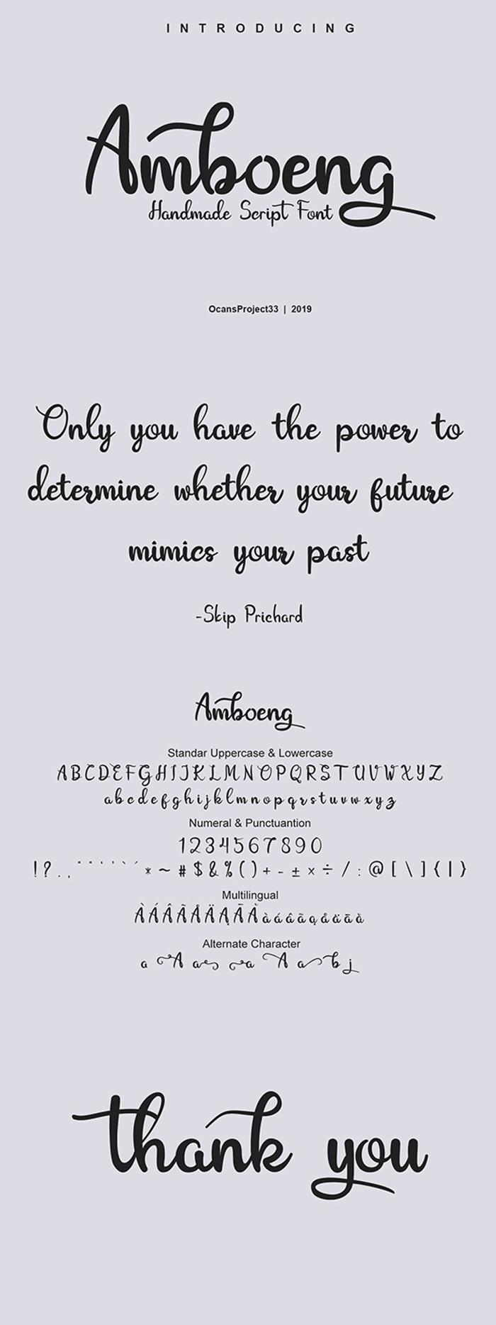 Amboeng Font poster