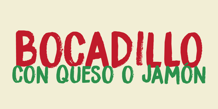 DK Bocadillo Font poster