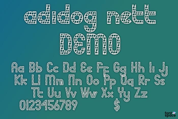 adidog Font poster