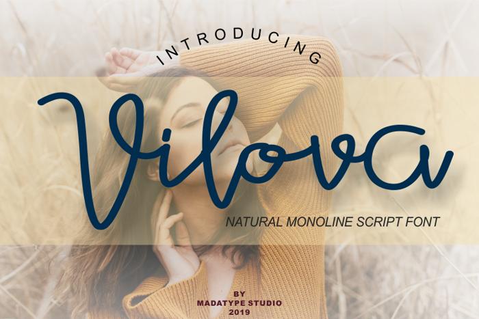 Vilova Font poster
