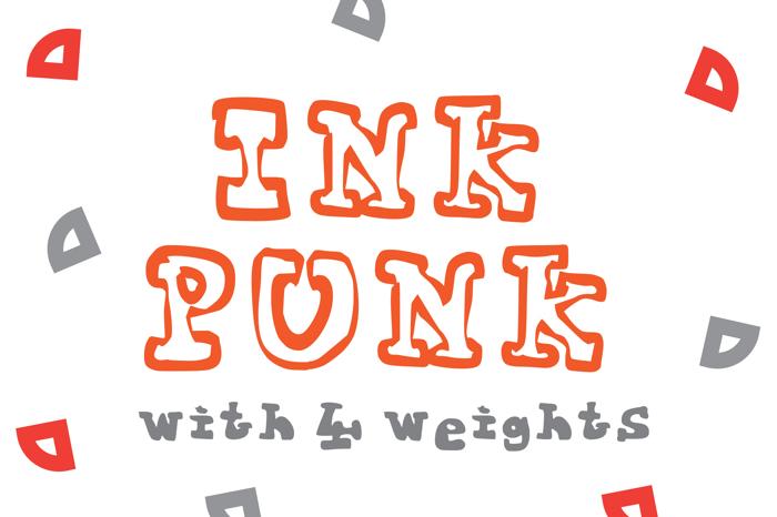 Ink Punk Font poster