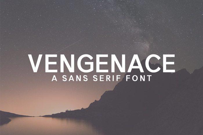 Vengeance Font poster