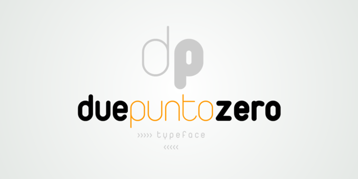 Duepuntozero Font poster