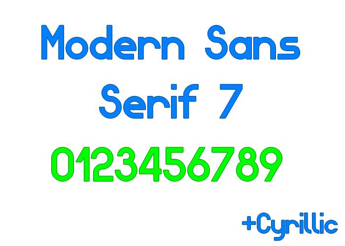 Modern Sans Serif 7 Font poster